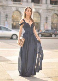 Картинки по запросу шифоновое платье длинное со шлейфом