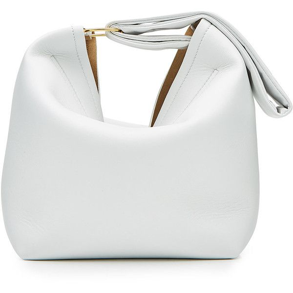 Victoria Beckham Leather Pouch Bag (£1,105) ❤ liked on Polyvore featuring bags, handbags, white, white wristlet, white handbags, wristlet pouch, leather pouch and leather wristlet