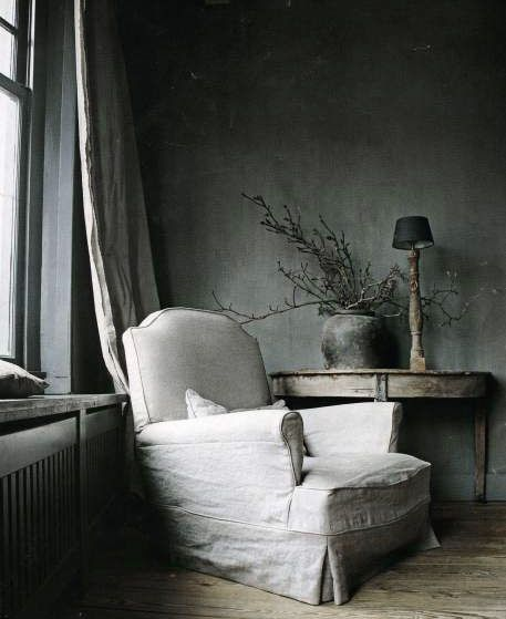 Dove Gray Home Decor ♅ restful reading corner | ♅ Dove