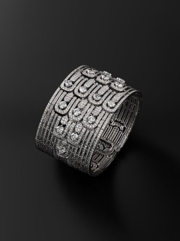 A diamond and platinum bracelet from the luxury #topstylehub collection. #Topstylehub.com, #top style hub
