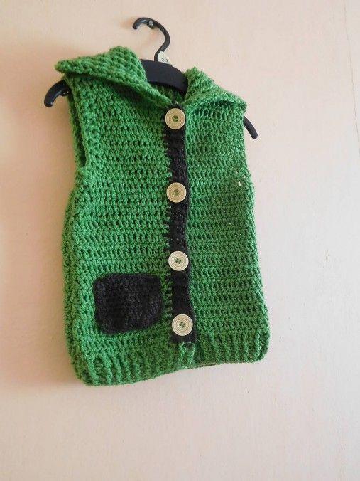 martinsen / Zelená vestička s vreckom