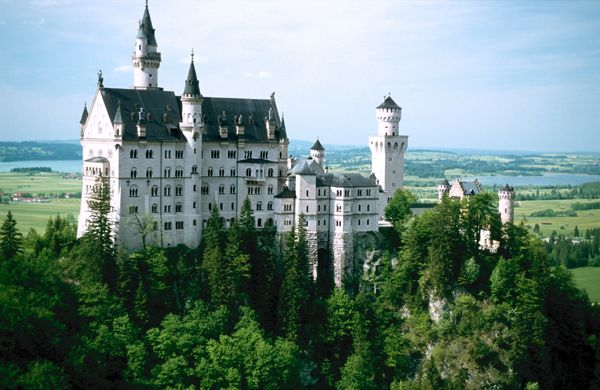 Neuschwanstein Castle in Germany.  I recommend it!