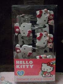 Hello Kitty shower curtain hooks set of 12.... I'm gonna have a hello kitty bathroom
