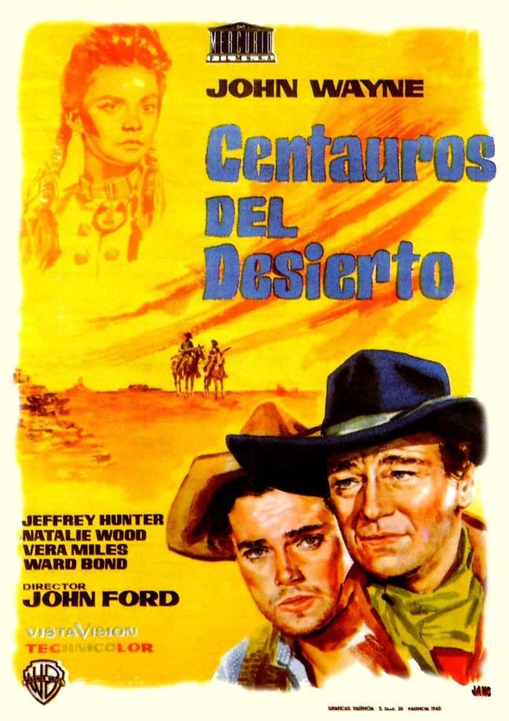"""Centauros del Desierto"", ""The Searchers"" (1956). Country: United States. Director: John Ford."