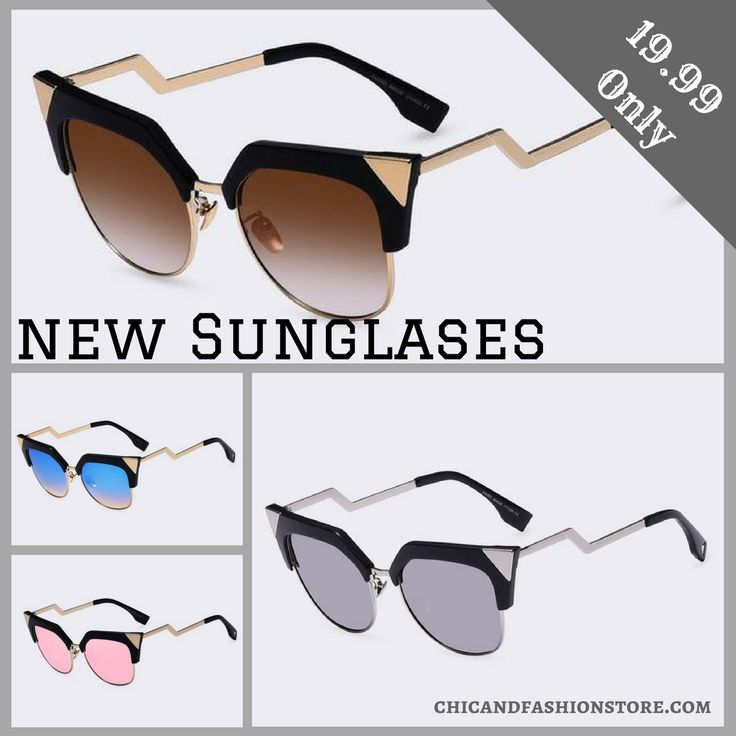 New Cat Eye Sunglasses🐱 I love it & You? What's your favorite?  Shop now👉https://buff.ly/2xJZWei?utm_content=buffer74a8c&utm_medium=social&utm_source=pinterest.com&utm_campaign=buffer #Hot #Sunglasses #Love #Favorite #Chic #Fashion #Jewerly #Accessories #New #Shop #Online #Guaranteed