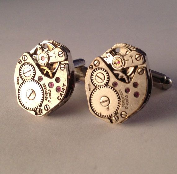 Men's Pair of Vintage Retro Swiss Watch Movements by Lynx2Cuffs, $29.99