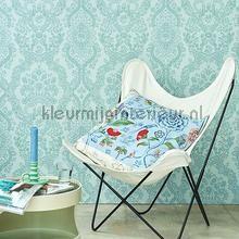 PiP Lacy Dutch Sea Blue behang 375042 romantisch modern Eijffinger
