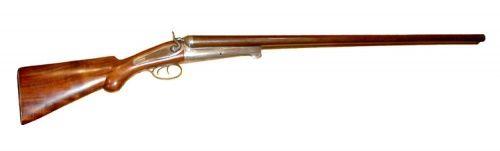 William Moore & Co.  8 gauge double barrel shotgun.  I want one!