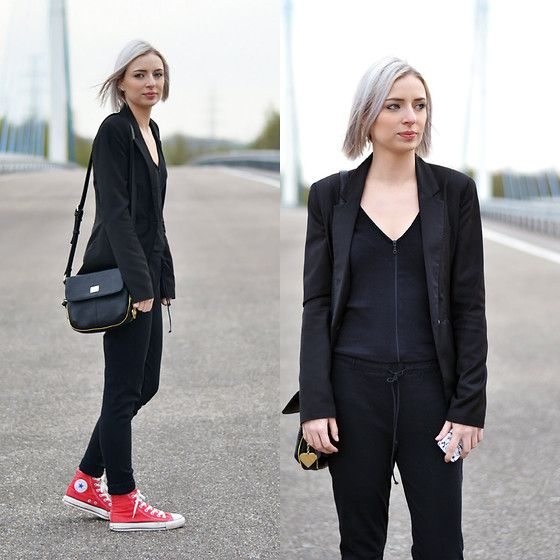 Get this look: http://lb.nu/look/7349566  More looks by Nena F.: http://lb.nu/turnitinsideout  Items in this look:  Marc B. Bag, Zara Jumpsuit   #chic #minimal #sporty
