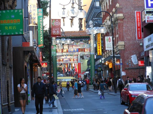 Chinatown in Melbourne.