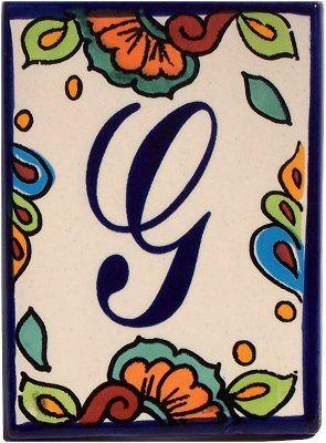 Hacienda Talavera Ceramic House Letter G