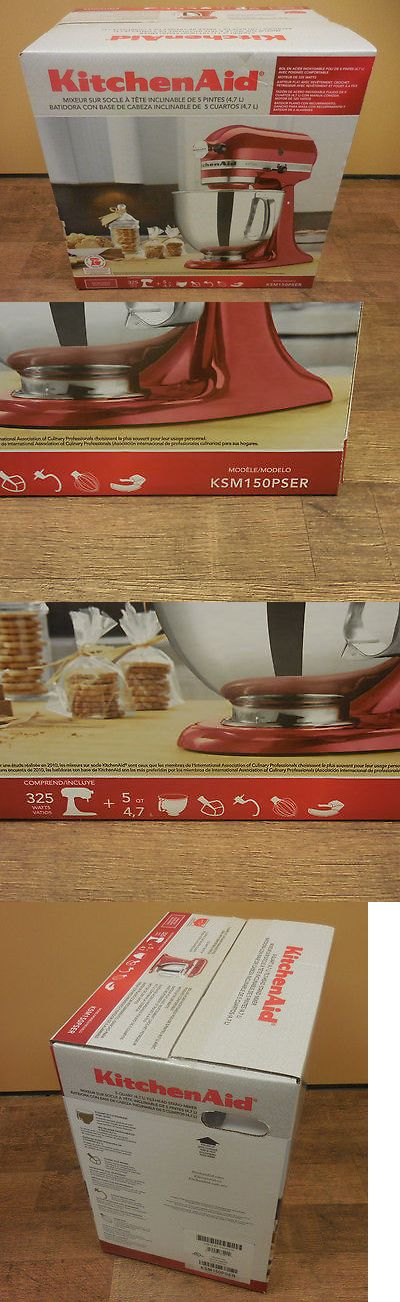 appliances: Kitchenaid Ksm150ps Artisan 5Qt. Stand Mixer-Red Color BUY IT NOW ONLY: $225.0