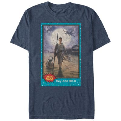 Star Wars The Force Awakens- Rey & BB-8 Trading Card Shirt