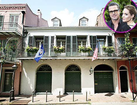 I'd love to rent a house in the Quarter for a little while. Brad Pitt and Angelina Jolie are selling off their New Orleans mansion