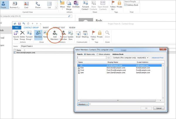 Outlook 2013 New Members Distribution List Outlook List Insert Text