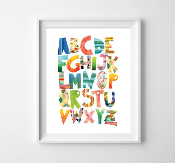 ABC Print. 123 Poster. Hungry Caterpillar. by MotifVisuals on Etsy