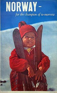 vintage ski poster - Norway 1965