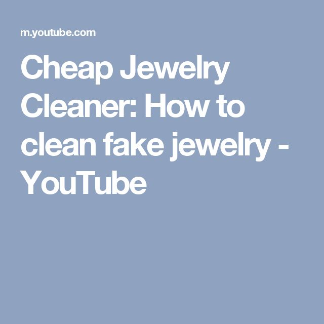 how to clean rusty fake jewelry
