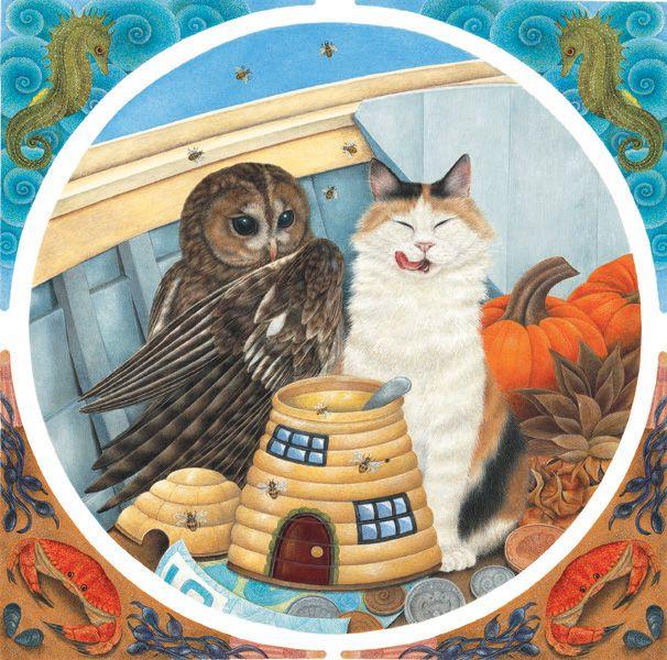 Best Eulen Katzen Owl And Pussycat Images On Pinterest - Owlet kitten meet coffee shop become best friends