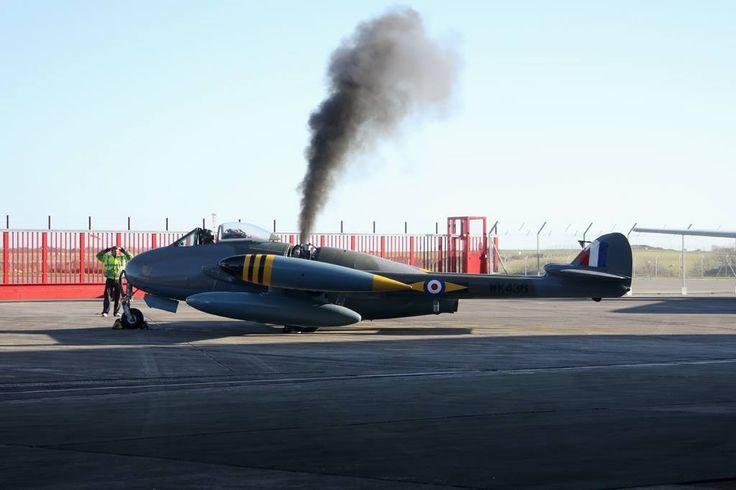 de Havilland DH.112 Venom Newquay Cornwall Airport (NQY/EGHQ) UK , December 2014 credits: Stephen Rendle