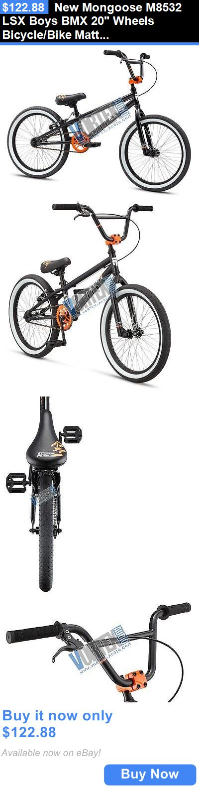 bicycles: New Mongoose M8532 Lsx Boys Bmx 20 Wheels Bicycle/Bike Matte Black Steel Frame BUY IT NOW ONLY: $122.88