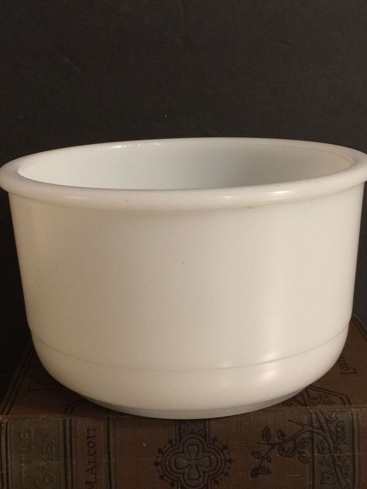 Vintage Milk Glass Mixing Bowl Unmarked White Opaque Kitchen Replacement Piece #Unbranded #MidCentury