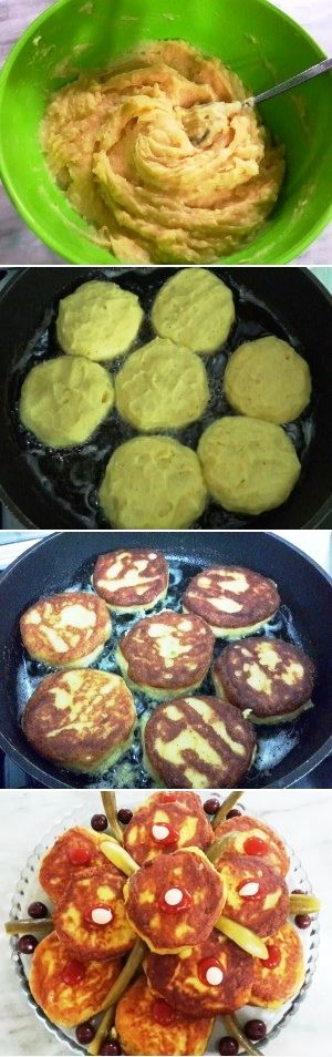 Potato patties can be served as dinner, a light lunch or a picnic food. It´s mostly popular among kids thanks to its crispy and crunchy texture.