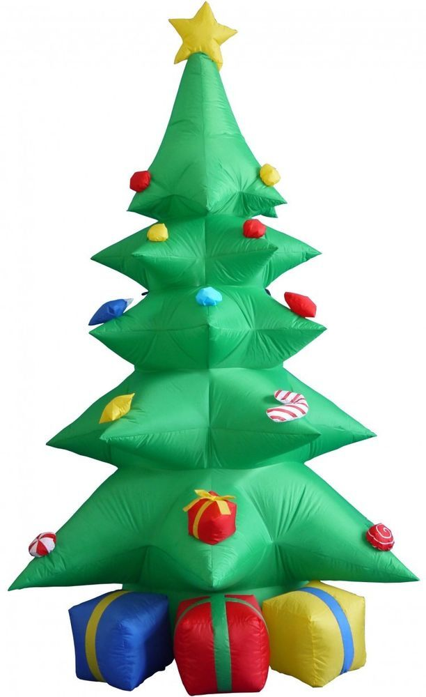 Christmas Tree Gift Boxes Airblown Inflatable 8 Ft Yard Lighting Xmas Decor  #easy_shopping08