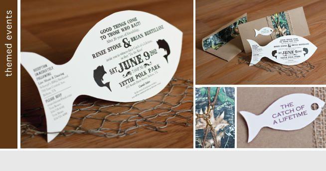 Camouflage Wedding Invitation Kits: Fishing Themed Wedding Invitations