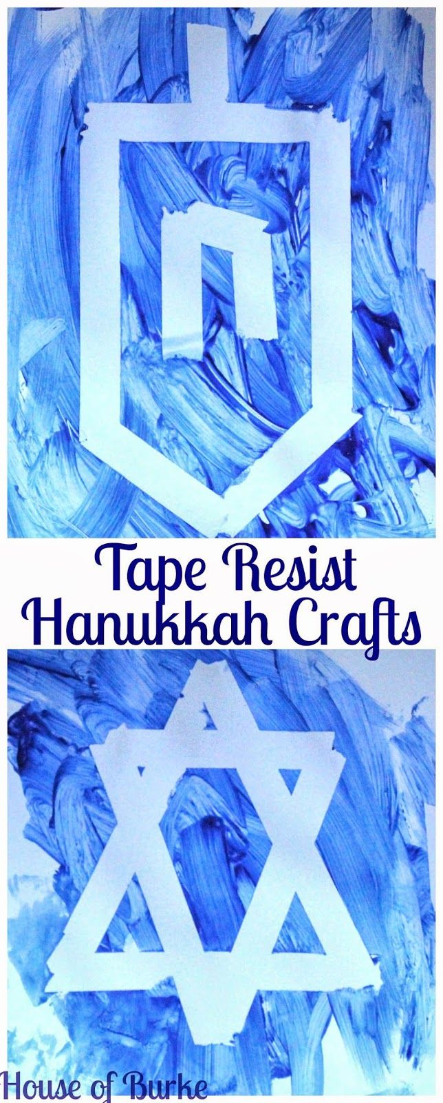 House of Burke: Tape Resist Hanukkah Crafts