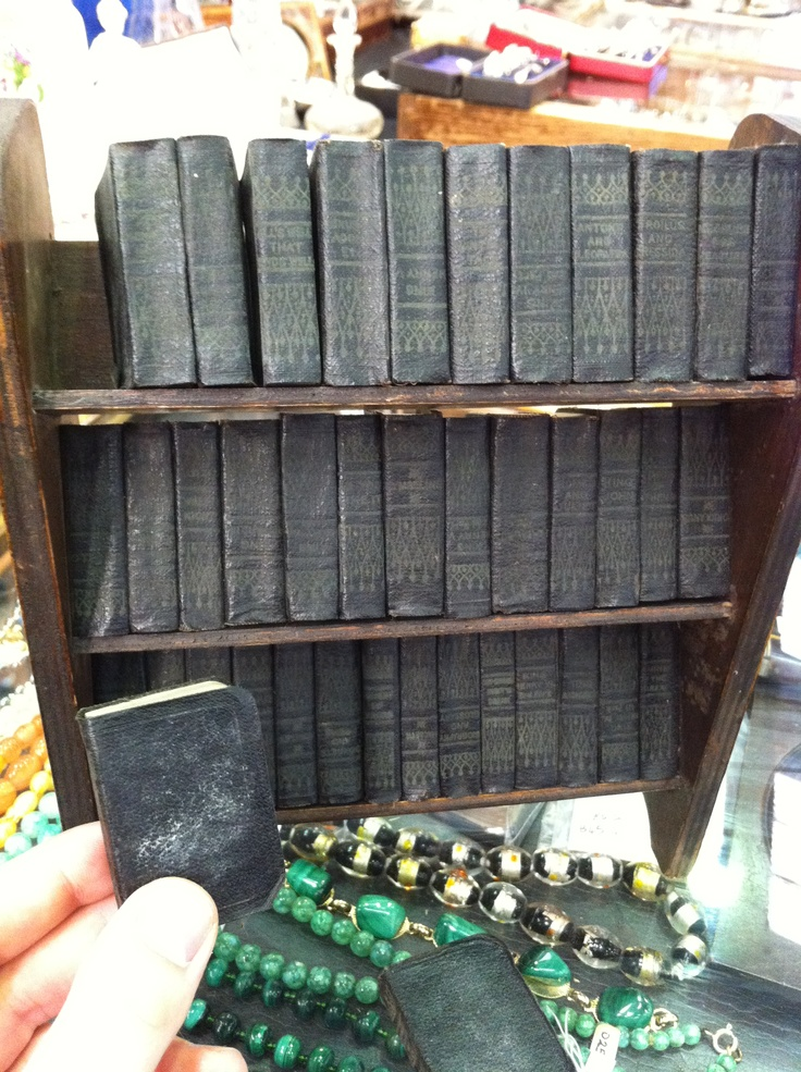 The Complete Works of Shakespeare in 40 mini volumes on a mini bookshelf!