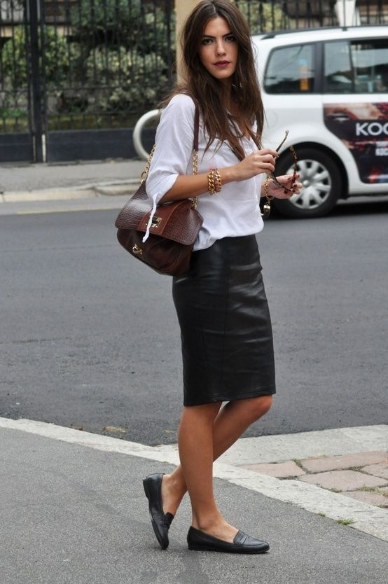    Rita and Phill specializes in custom skirts. Follow Rita and Phill for more leather skirt images.
