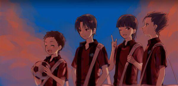 The original members of Momoyama Predators Ginga e kickoff!