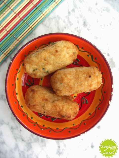 Braziliaanse zoute viskroketjes (bolinho de bacalhau)