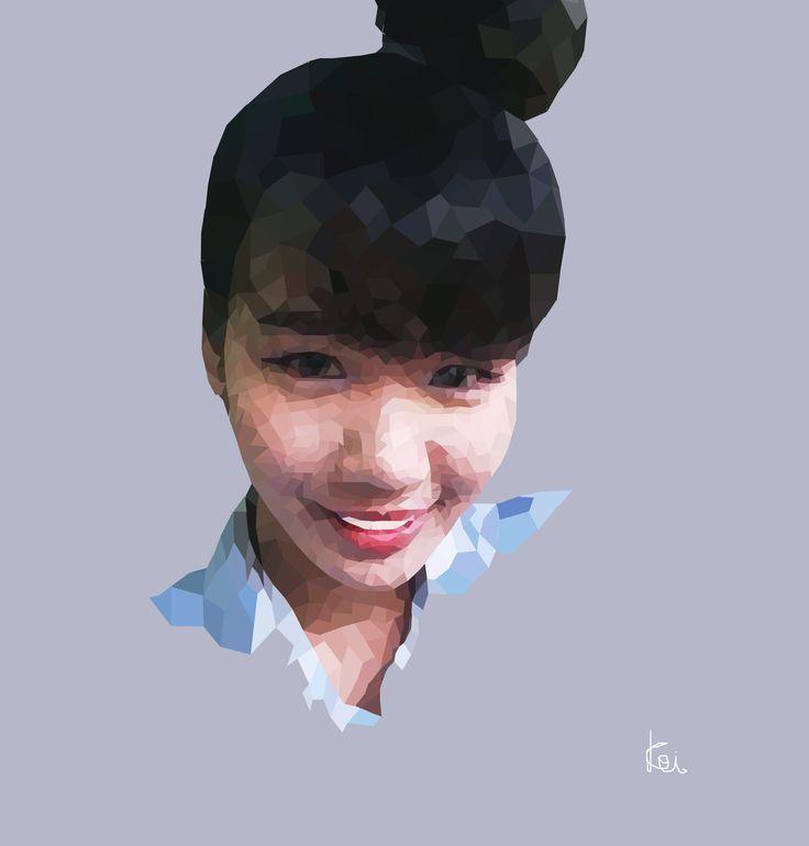 Fangg #polygonart #ilustrations #girl