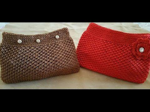 "Tutorial uncinetto borsa ""Vayne"" | Punto trifoglio | How to make crochet bag || Katy Handmade - YouTube"