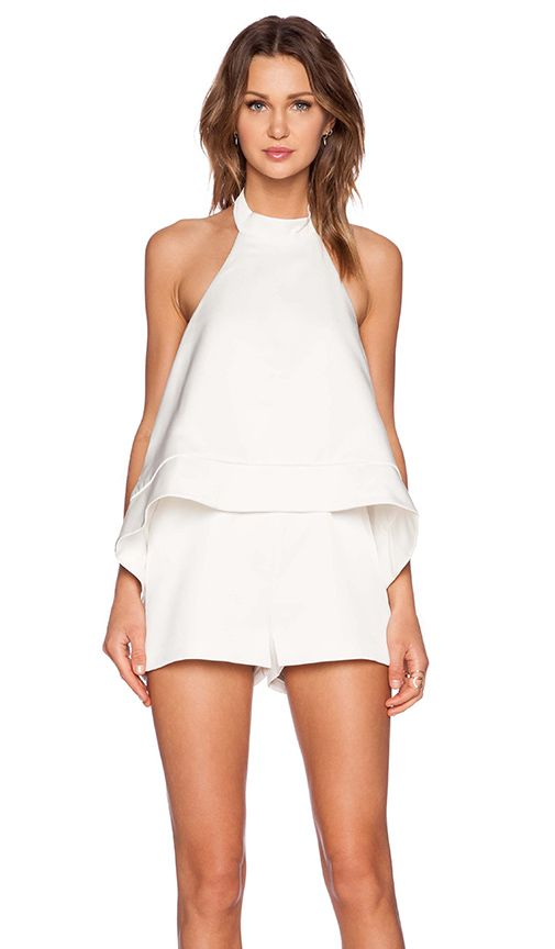 White Romper // perfect for summer parties