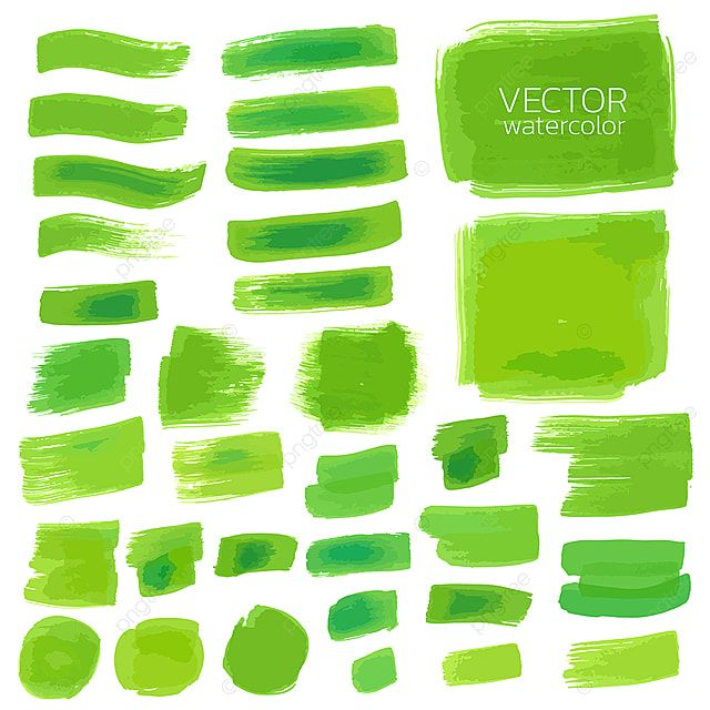 Set Of Watercolor Green Brush Stroke Design Brush Stroke Vector Png And Vector With Transparent Background For Free Download Watercolor Splash Png Green Watercolor Brush Strokes