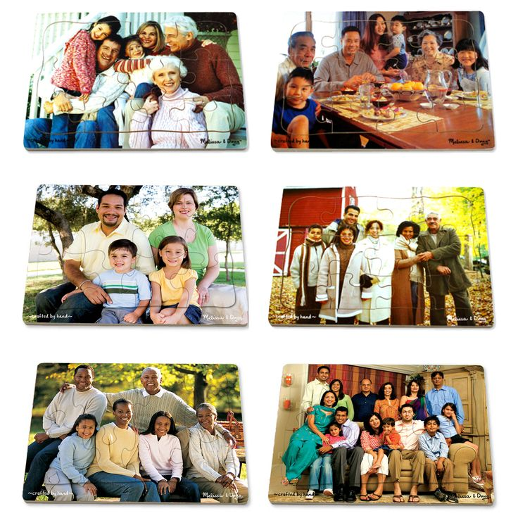 Melissa & Doug Realistic Multicultural Family Puzzle Set