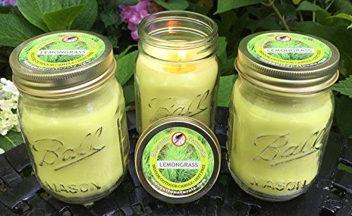 Natural LEMONGRASS Mosquito Repellent Candles - SET OF 3 - Bye, Bye, Bad Bugs!!