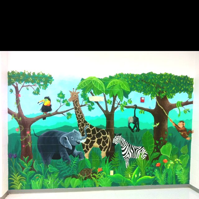 Jungle mural I painted!