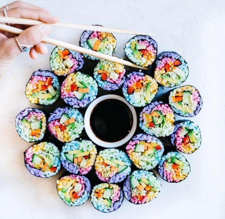 J'adoooore les sushis .Mais seulement s'ilssont sans cruauté , colorés et merveilleux. Voici 5 délicieuses recettes pour 4personnes (ouune seule si vous êtes aussi gourmands que moi…