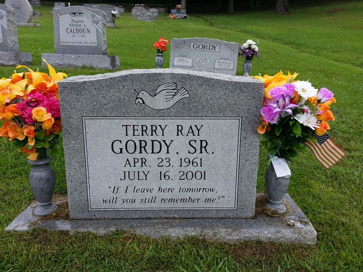 Grave Marker- Terry Gordy, American professional wrestler. (photo Josh McKeehan 1/2). Gordy died of a heart attack, caused by a blood clot in 2001. He was buried at the Tennessee Georgia Memorial Park, in Rossville, Georgia.