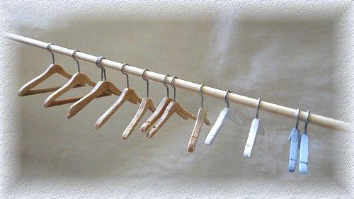 Workshop poppenhuis kledinghangers