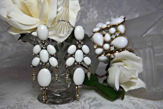 Art deco braccialetto, orecchini art deco, gatsby bracciale, gatsby orecchini, braccialetto bianco orecchino, orecchino di braccialetto, di nozze 1920s