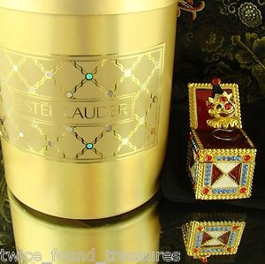 Estee Lauder Jack in the Box 1999 Compact Solid Perfume White Linen