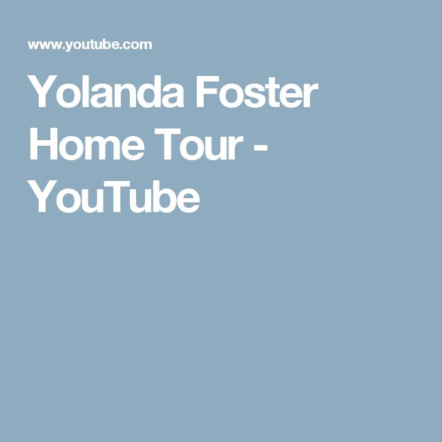 Yolanda Foster Home Tour - YouTube
