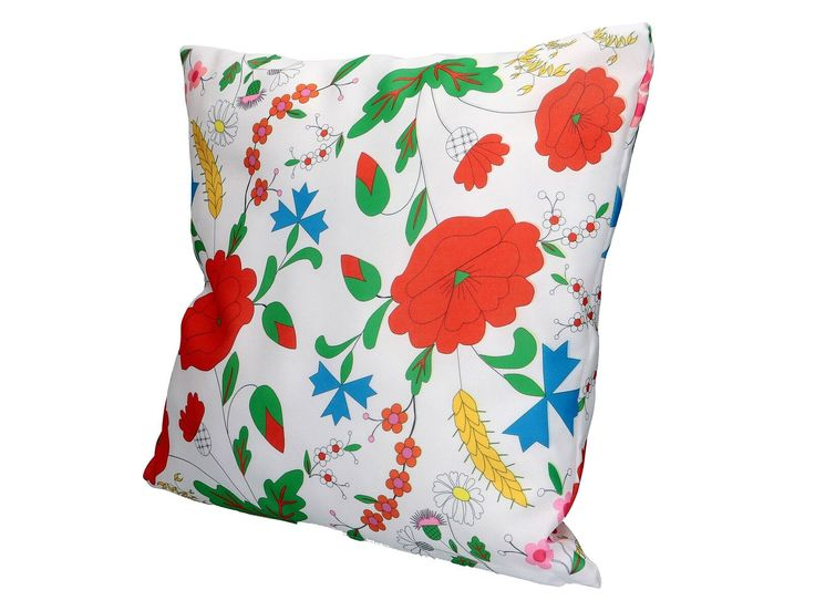 Poduszka dekoracyjna z haftem kociewskim