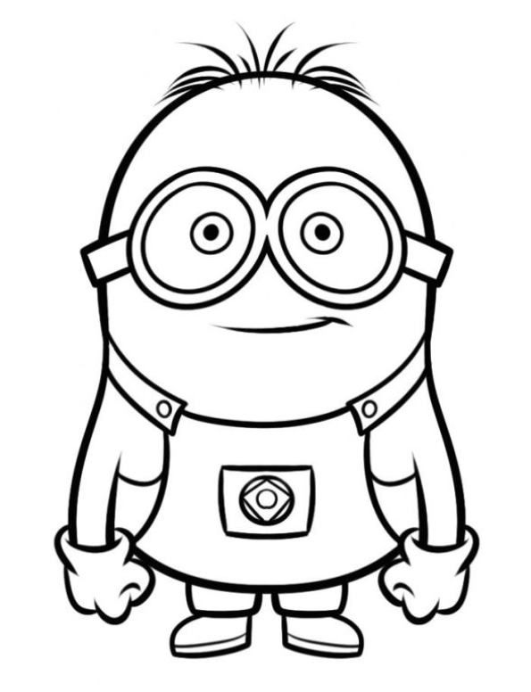 Coloring page minion 2 kids n fun