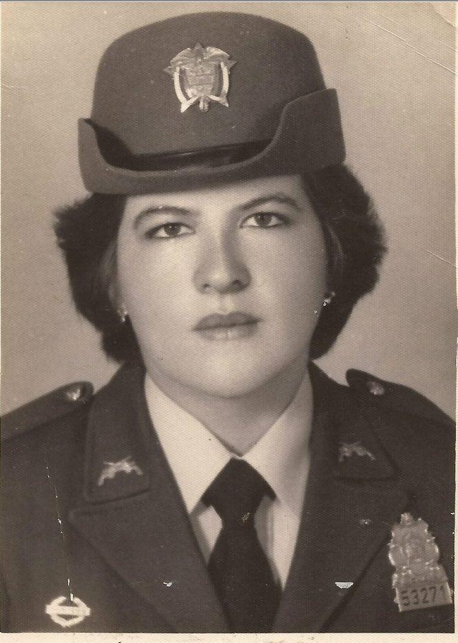 Martha Fabiola Bazante Castellano, Primer curso Policia Femenina en 1979